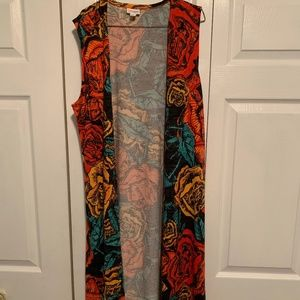 LuLaRoe M Joy - black with yellow and red roses